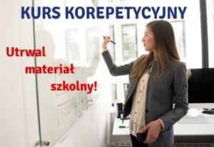 Kursy korepetycyjne - utrwal materiał szkolny!