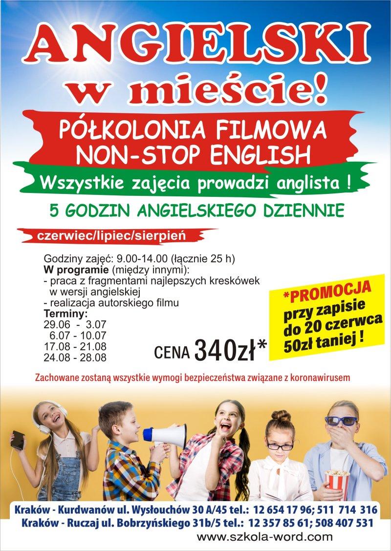 Angielski w mieście! Półkolonia językowa dla dzieci